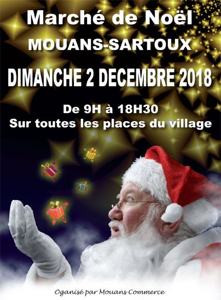Marché de noël de Mouans-Sartoux 2018