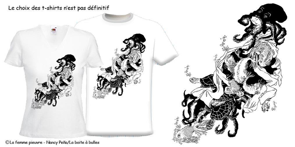 Présentation des t-shirt et affiche de Nancy Peña