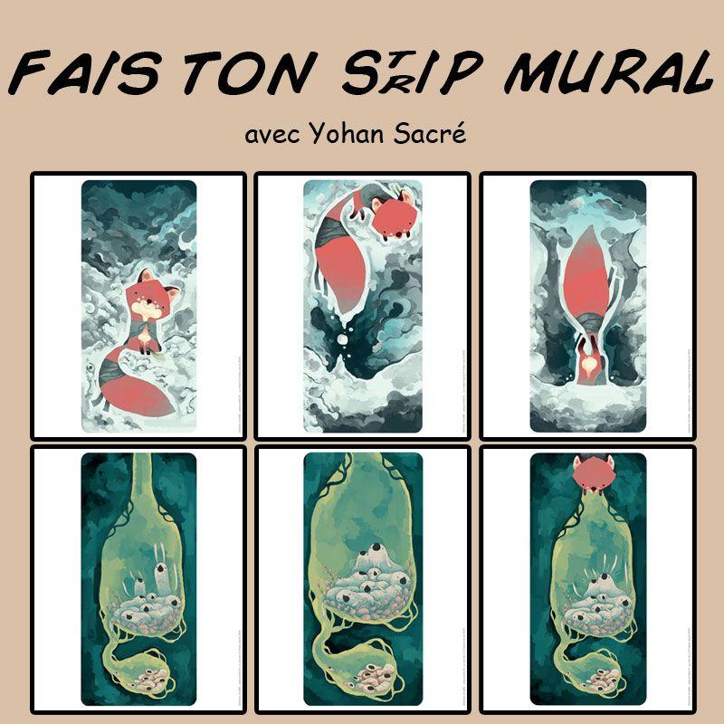 présentation des six illustrations de Yohan Sacré