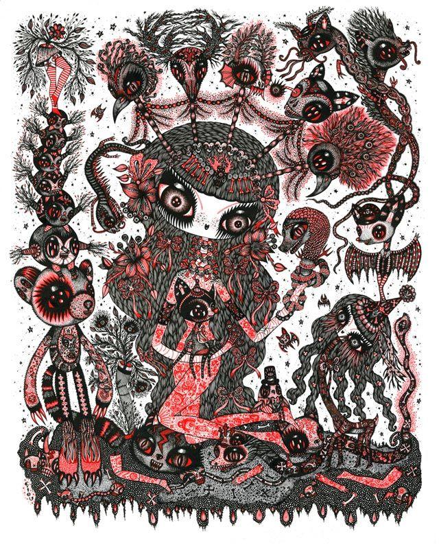 Magnifique affiche Red Nymph de Ciou