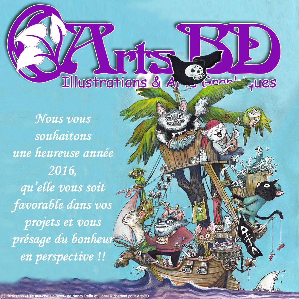 carte de voeux ArtsBD pour 2016