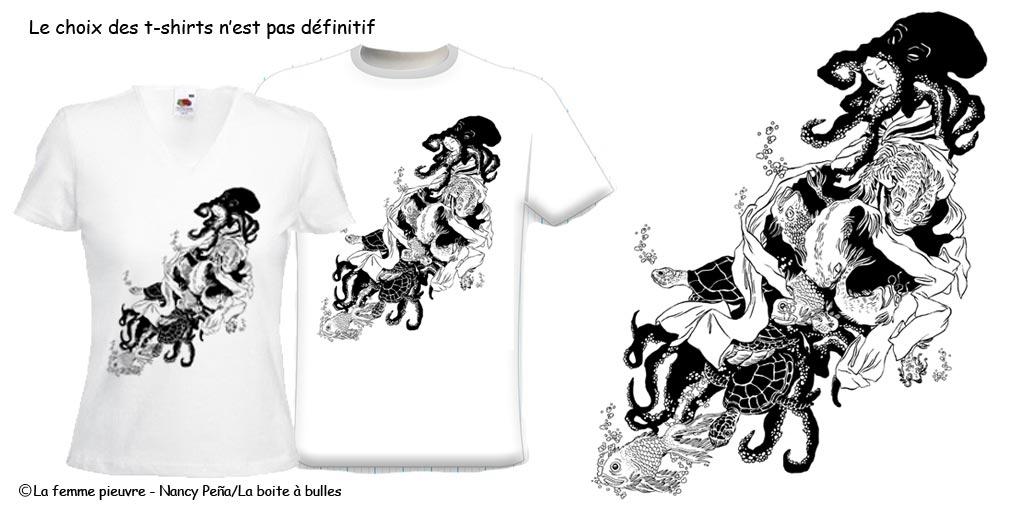 Peña Pieuvre Nancy Artsbd T Shirt Signé Femme La rCxeodB