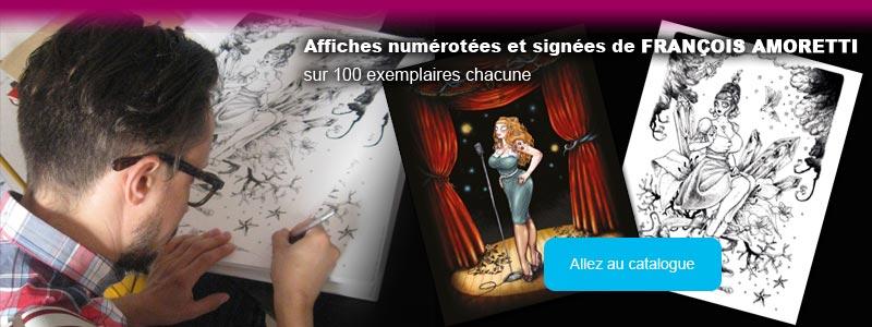 Numérotés signées François Amoretti