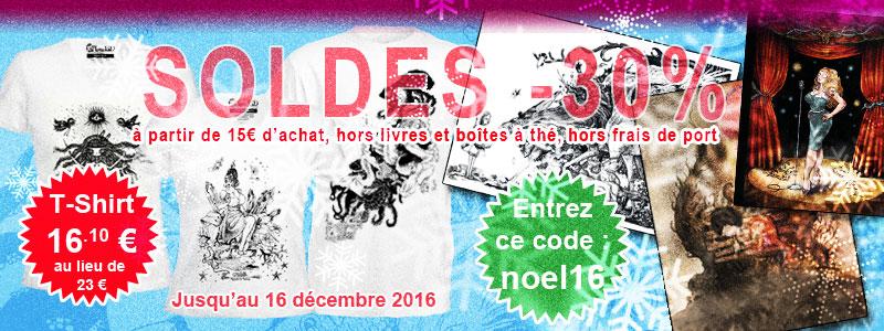Soldes de Noël 2016 avec le code noel16